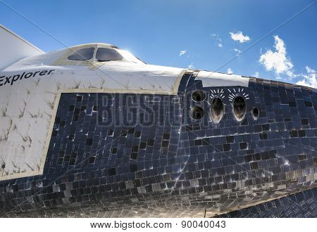 The Original Space Shuttle Explorer Ov100 At Kennedy Space Center
