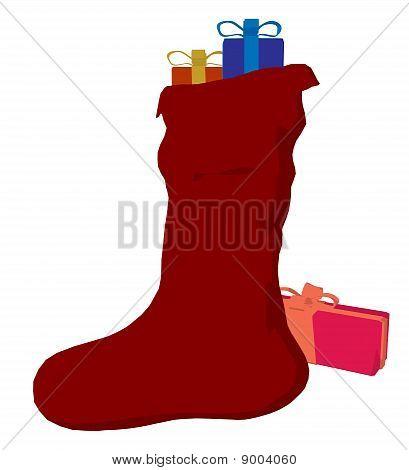 Christmas Stocking Art Illustration