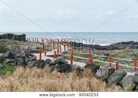Trail At A Coast In Jeju Island