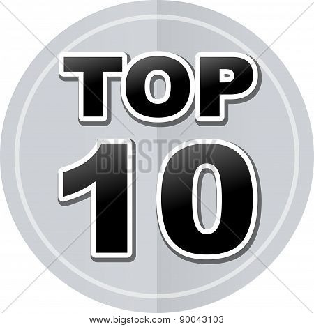 Top Ten Sticker Icon