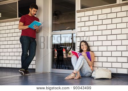 Studying Outside A Classroom