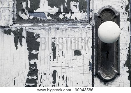 Old, Weathered Door Close Up