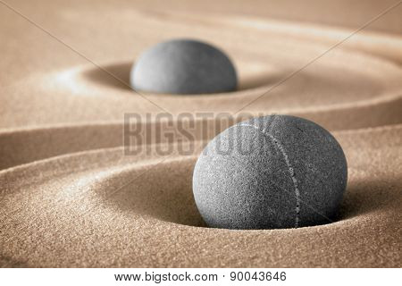zen stone garden stones and lines in sand for relaxation and meditation pure nature spirituality