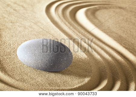 zen meditation stone garden. Spa wellnes treatment background rock massage therapy. Serenity, harmony balance and purity.