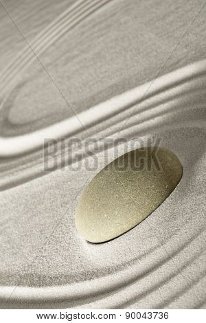 zen rock garden japanese garden zen stone tranquility and balance ripples sand pattern spa wellness relaxation