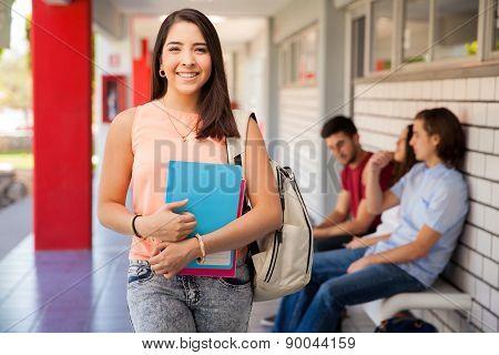 Beautiful Girl Attending College