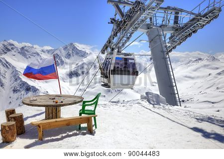 Aerial Lift On Elbrus