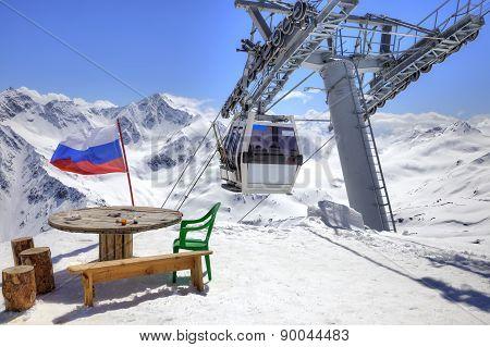 Aerial Lift On Elbrus