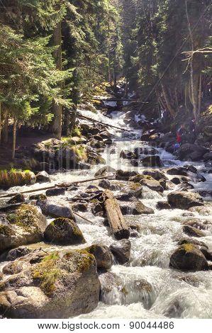 Dombay. Mountain River Murudzhu