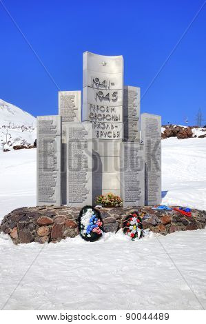 Monument To The Heroes Of Defensive Of Elbrus