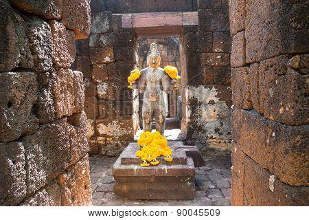 Bodhisattva in castle rock, Thailand