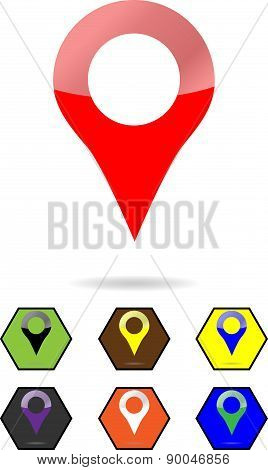 Location Pin Sign Set