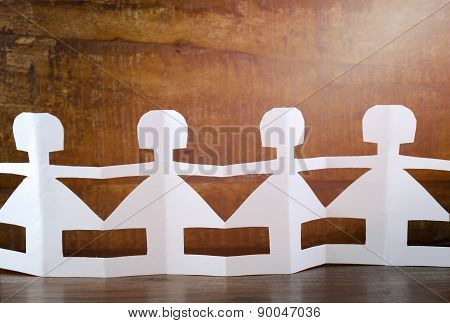 Happy Childrens Day Concept With Paper Dolls