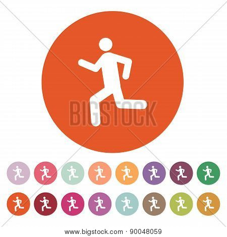 The Man Running Icon. Run Symbol. Flat