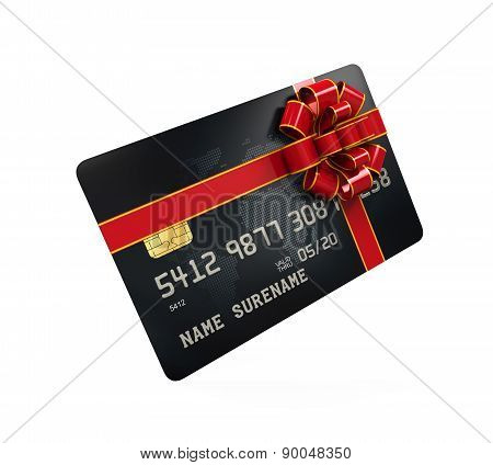 Gift Credit Card Isolated