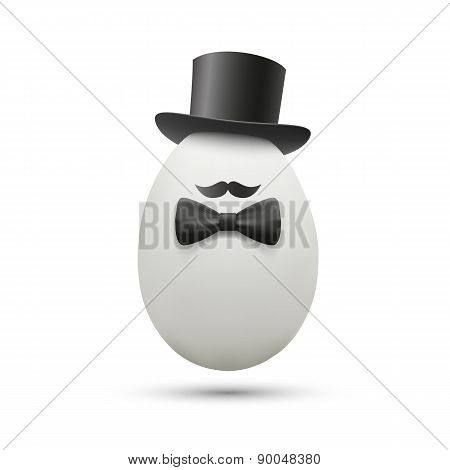 White Egg In A Hat.