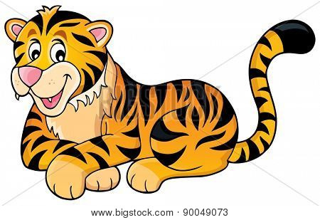 Tiger theme image 1 - eps10 vector illustration.