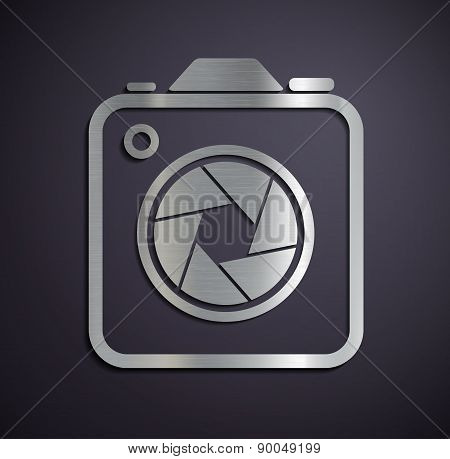 Icon Of Metal Camera.