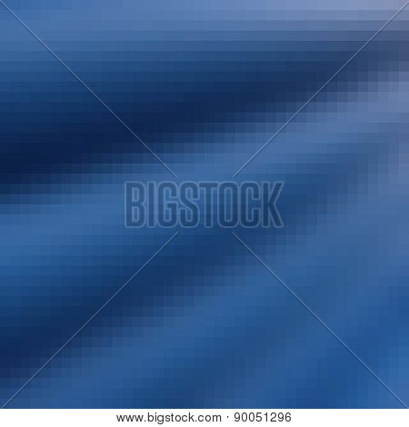 Pixel Wave Curtain Blue Gradient Background