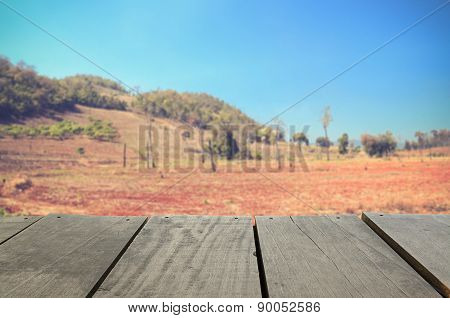 Defocused And Blur Image Of Agriculture Deforestation In The Mou