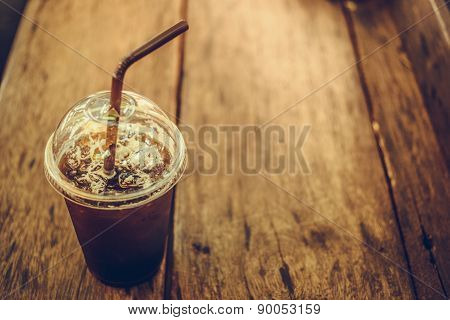 Cold Black Coffee Without Sugar