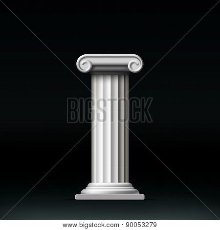 Antique White Column.