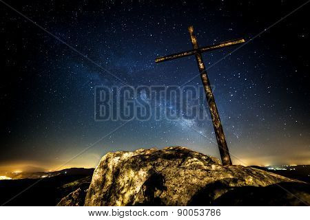 Holy Cross and the Milky Way