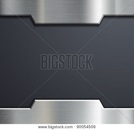 Frame Of A Metal Plate.