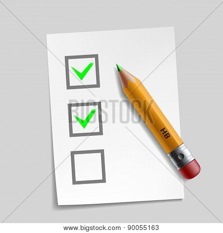Customer Survey Check Mark Illustration Design