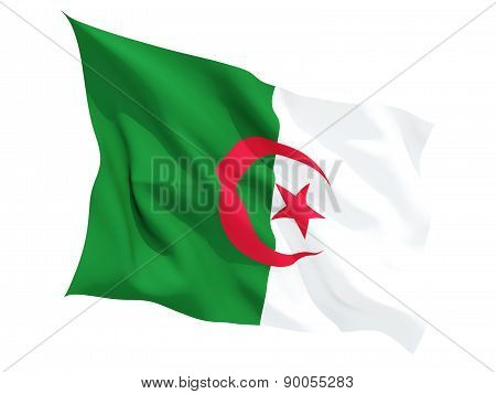 Waving Flag Of Algeria