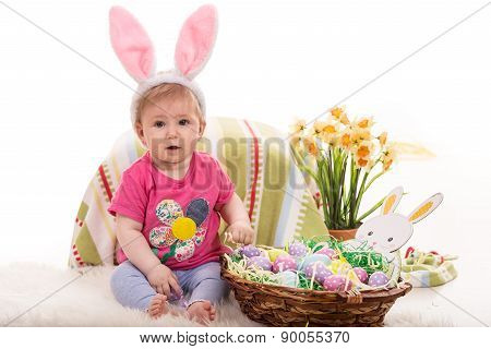 Cute Baby Easter