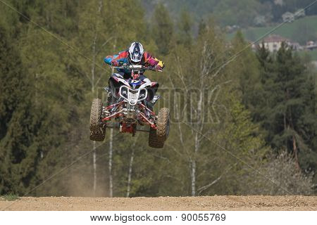 Junior Quad Racer Is Jumping Over The Horizon