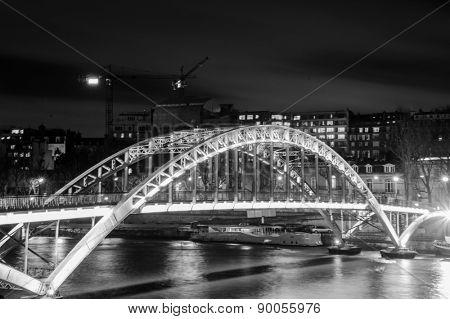 Seine river and ark bridge in Paris