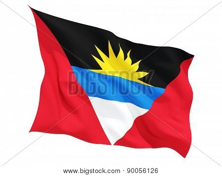 Waving Flag Of Antigua And Barbuda