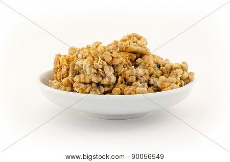 Pile of Granola isolated on white background