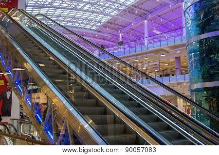 Escalator In Mall Aviapark