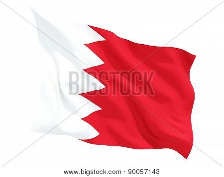 Waving Flag Of Bahrain