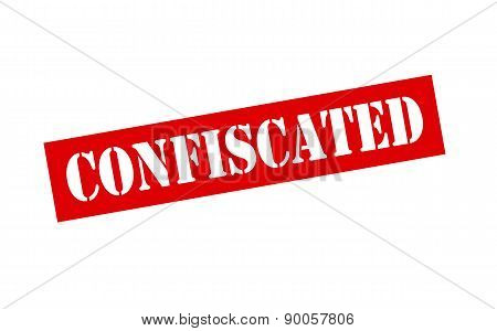 Rubber stamp with word confiscated inside vector illustration
