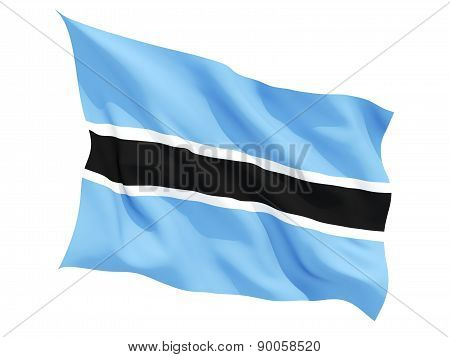 Waving Flag Of Botswana