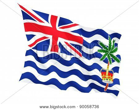 Waving Flag Of British Indian Ocean Territory