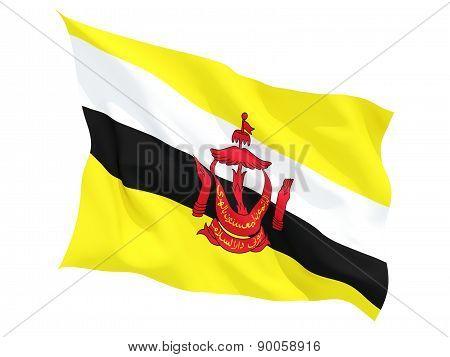 Waving Flag Of Brunei