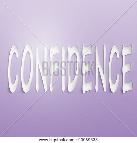 text on the wall or paper, confidence