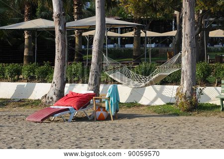 Hammock and chaise lounge
