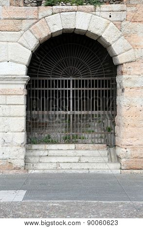 Gateway To The Arena Di Verona In Italy