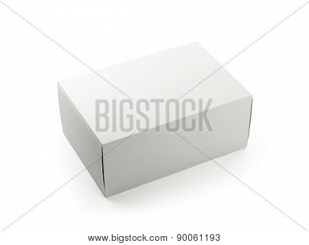 Blank White Cardboard Box Single
