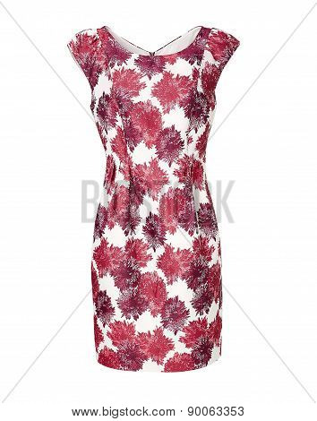 Womans Dress Isolated On White