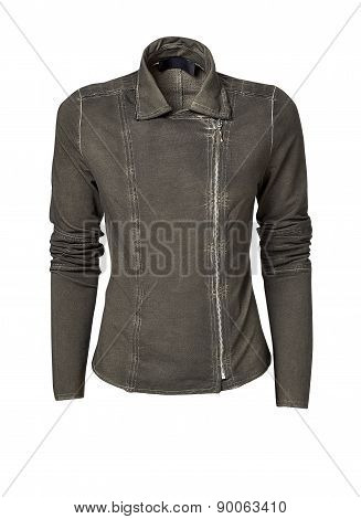 Womans Jacket Isolated On White