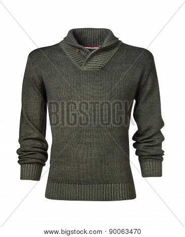 Mans Sweater Isolated On White