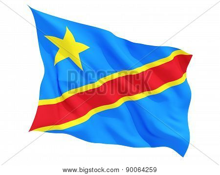Waving Flag Of Democratic Republic Of The Congo