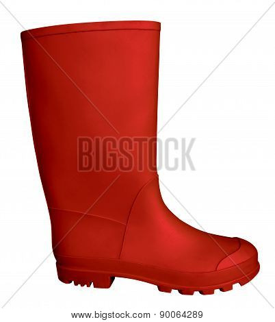 Rubber Boot - Red